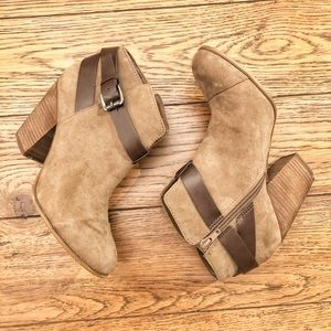 Brown suede booties!
